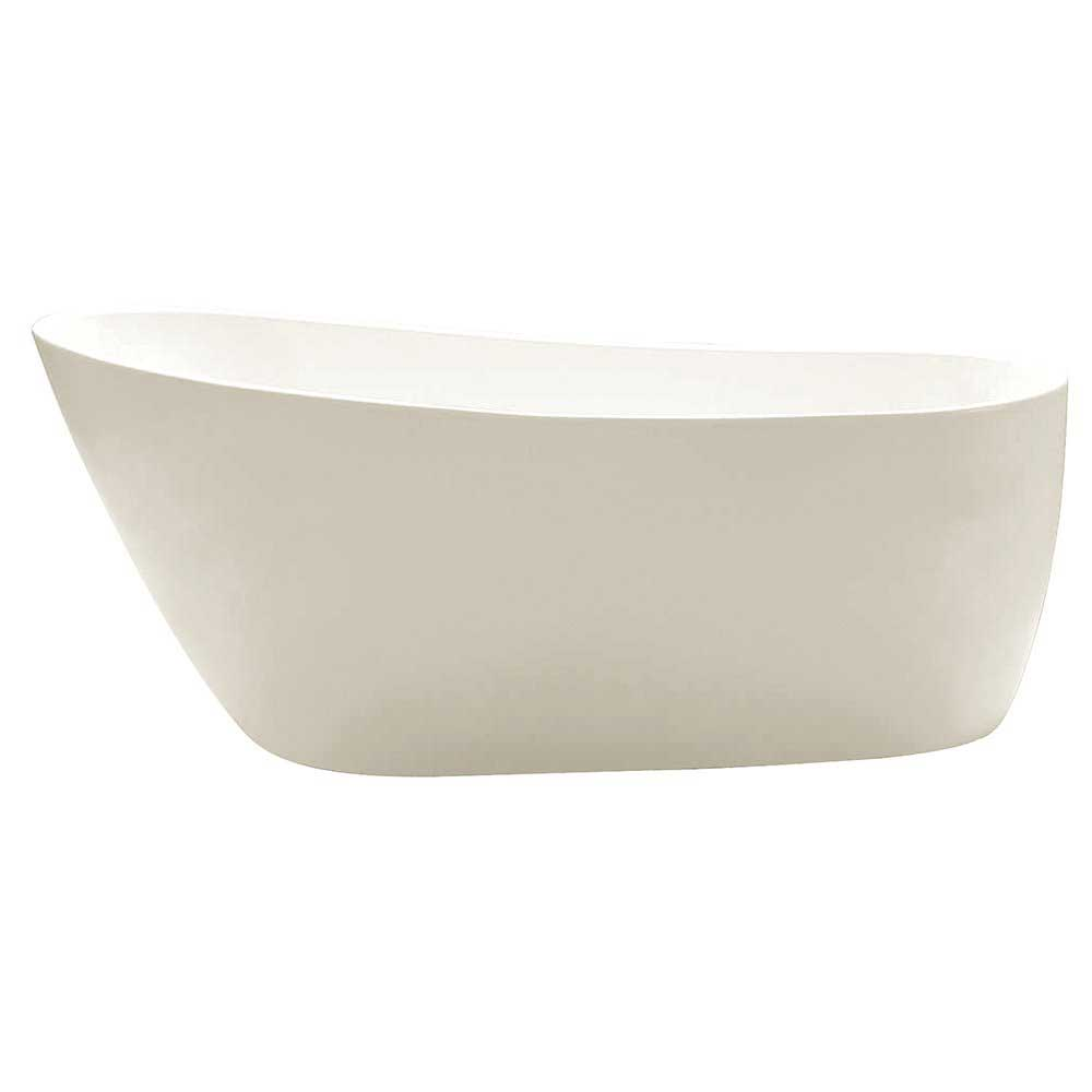 KINGSTON BRASS VTRS592928 59 Inch Contemporary Freestanding Acrylic Bathtub