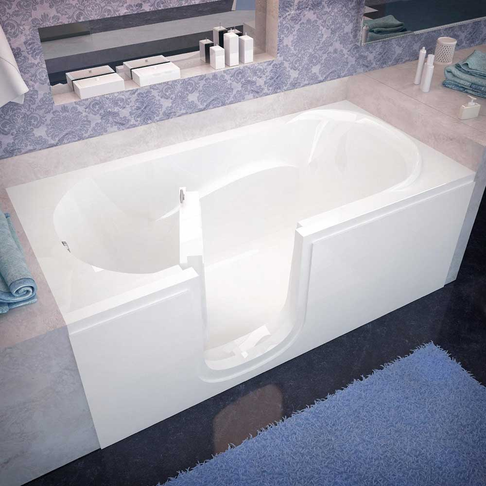acrylic soaking tub 60 x 30. spa world venzi vz3060silws rectangular soaking walk-in bathtub, 30×60, left drain acrylic tub 60 x 30 i